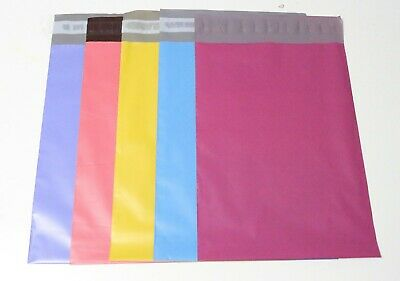 100 shipping bags 7.5x10.5'' Multi color Poly Mailers Shipping Envelopes