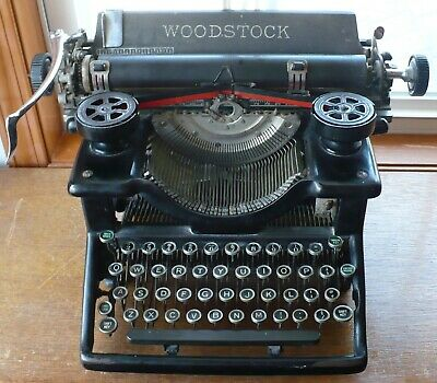 Antique 1929 Woodstock No. 5 Manual Typewriter