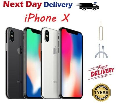 Apple iPhone X (iPhone 10) - 64GB-256GB - Factory unlocked SIM Free Smartphone