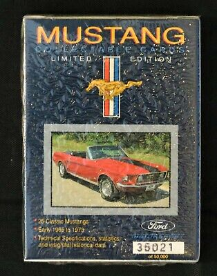 Vintage Ford Mustang Muscle Car Collectible Cards, Sealed Pack, Limited Edition