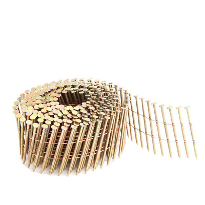 2 In. X 0.092 In. 15-Degree Wire Collated Galvanized Ring Shank Coil Siding Nail
