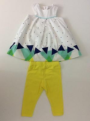 Catimini Baby Girls Outfit, Size Age 6 Months, 68 Cm, Leggings & Top Vgc