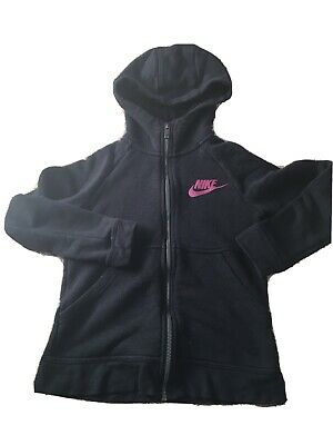 Nike Girls Zip Hoody Black Soze Small Size 6/7 Years