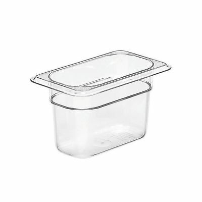 "6 NEW Cambro 94CW135 Clear Camwear 1/9 Size x 4"" D Food Pans"