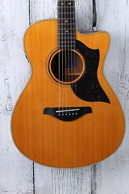 Yamaha AC5M ARE Concert Cutaway Acoustic Electric Guitar Vintage Natural w Case