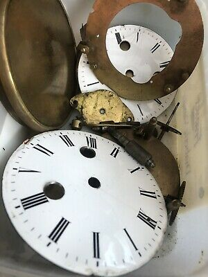 Job Lot Of Victorian French Clock Parts