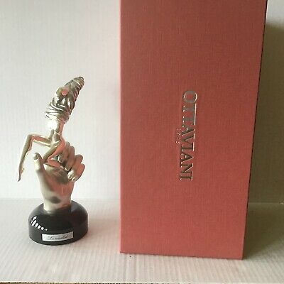 "Vtg New Ottaviani  Sculpture ""La Crisalide"" Silver 800 Statue  Made in Italy NIB"