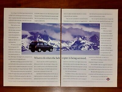 Nissan Pathfinder Magazine Advertisement Collectible When The Helicopter Is