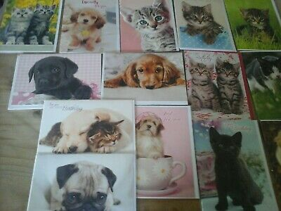 40 Cats And Dogs Cards, Wholesale Joblot Greeting Cards
