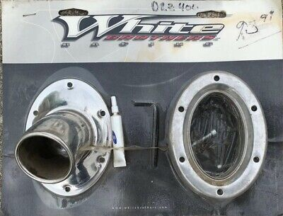 White Brother E series exhaust tip diffuser plates and harware . New Sealed