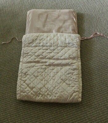 Vintage 1940's Quilted Silk Baby Bed