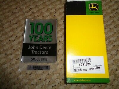 JOHN DEERE 100th ANNIVERSARY EMBLEM L221808 TRACTOR SPECIAL EDITION 3X4 AWESOME!