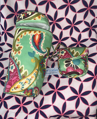 Vera Bradley Tutti Frutti Bottle Caddy insulated carrier & Pacifier Pod