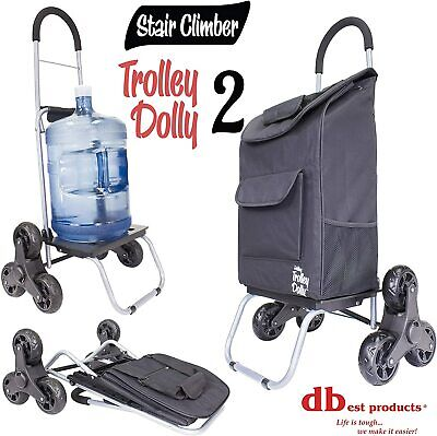 Trolley Dolly Black Shopping Grocery Foldable Cart Capable 110 Lbs US Stock