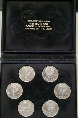 1992 Olympic Russia Ussr 6 Coin Proof Set (N)