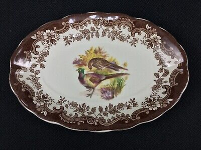 Royal Worcester Palissy Game Series Birds Oval Gravy Boat Liner Saucer