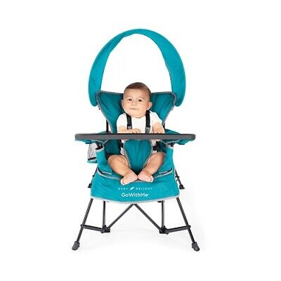 Portable Baby Feeding High Chair Convertible Toddler Booster Folding Fabric Seat
