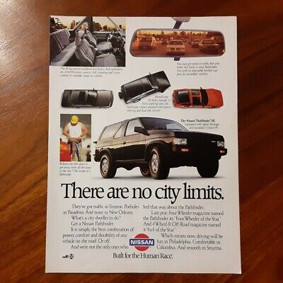 Nissan Pathfinder Magazine Advertisement Collectible There Are No City Limits