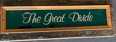 House Name Plate Sign 'The Great Divide'