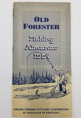 Vintage Old Forester Fishing Almanac 1954 30 Page Booklet