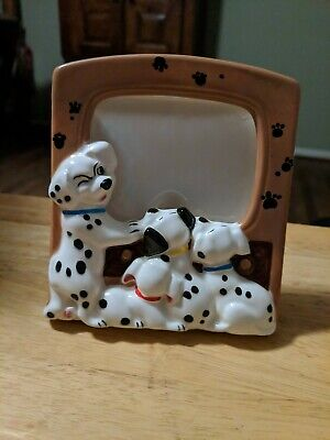 "Disney 101 Dalmatians Ceramic Picture Frame Holds 3"" x 4"" Photo Made in Japan"