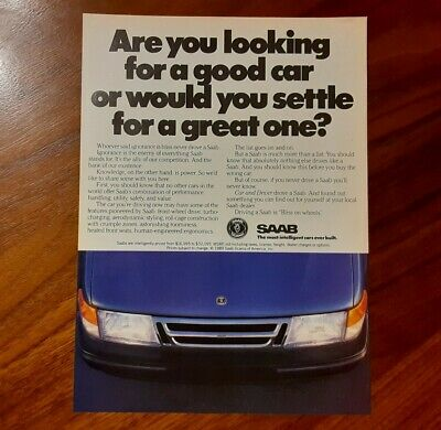 Saab Turbo Magazine Advertisement Collectible A Good Car Or Settle For Great