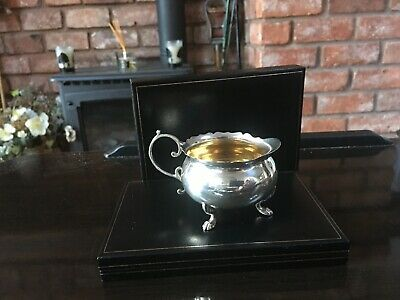Antique 1902  Edwardian Sterling Silver Condiment Pot with Gold Wash Inner