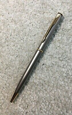 Parker Insignia Stainless Steel with Gold Trim Ball Point Pen
