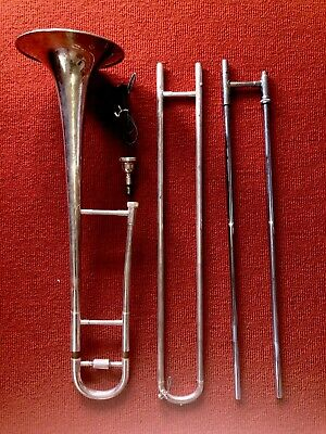 Blessing USA Silver Trombone + Cleaner + Carry Case