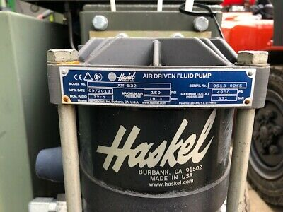 Haskel Air Driven Hydraulic Pump Aw B32