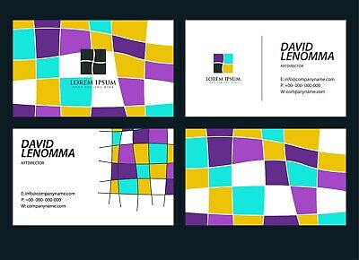Business Card Professional Custom Design - Source File - Unlimited Revisions