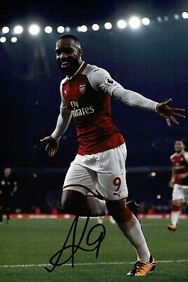 Alexandre LACAZETTE Arsenal Football SIGNED Autograph 12x8 Photo A COA AFTAL