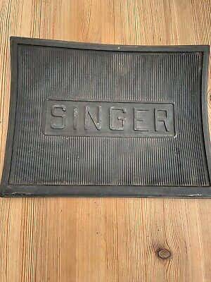 Vintage Singer Sewing Machine Rubber Foot Plate Base Mat