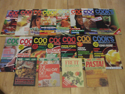 Collection/Bundle/Lot' 5 -15 Vintage Cook's Weekly Magazines & 4 Booklets 1980'S