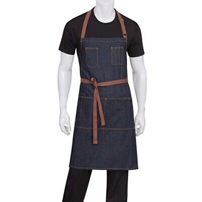 Chef Works Memphis Bib Cotton Blue Denim Apron AB035