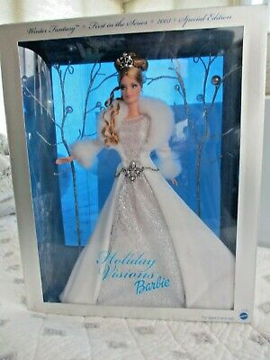 """Vintage Mattel Barbie Holiday Visions Nib """"2003"""" Special Ed.1St In The Series!!"""