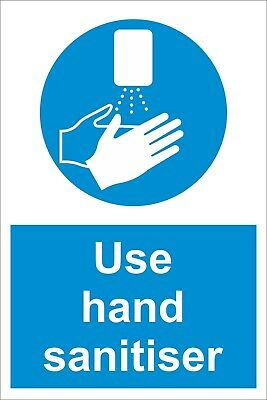 Use Hand San Hygiene Safety Sign - Social Distancing