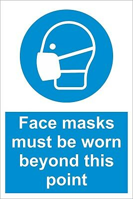 Face Masks Must Be Worn - Social Distancing  Safety Sign