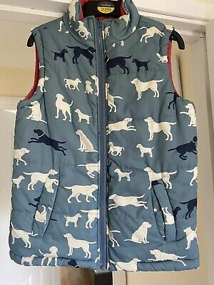 Hatley Girls Gillet 8yrs Reversible Red Dogs