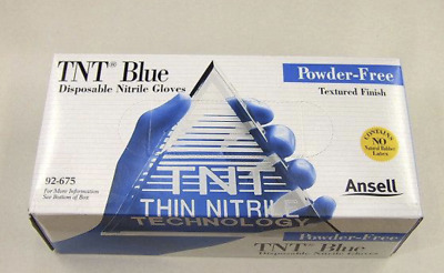 Blue Nitrile Powder Free Gloves Medical Exam Large 100 Pieces/Box