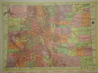 Vintage 1957 COLORADO Map ~ Old Authentic Original Atlas Map 72018