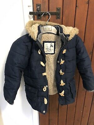 Boys Girls Duffle Coat With Zip And Toggles Age 3 - 4 Years