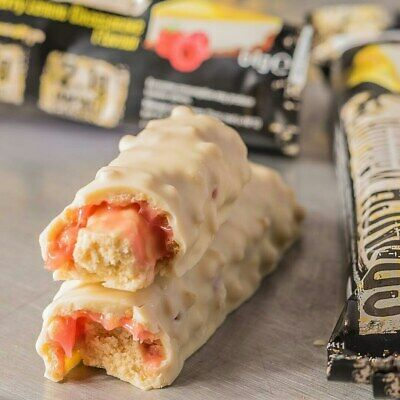 CRUNCH PROTEIN BAR - 12 BARS - Low Sugar, Low Carb (Raspberry Lemon) BBE 5/20