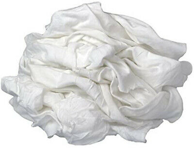 Tshirt Knit Rags White - 5 lb bag -100% Cotton-Highly Absorbent-Lint Free