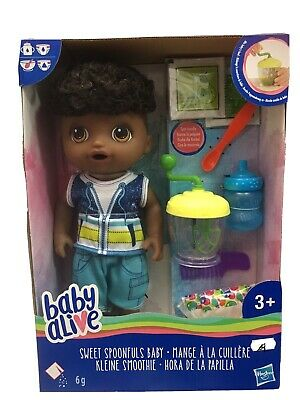 Baby Alive Sweet Spoonfuls Black Baby Boy Doll - NEW* - BEST PRICES!