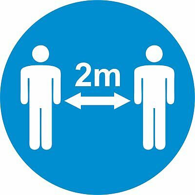 2M Apart - Social Distancing Floor Stickers - Safety Signage