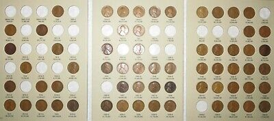 1909-1940 PDS Lincoln Wheat Penny Cent Collection, 63 coins in Album w/Semi-Keys