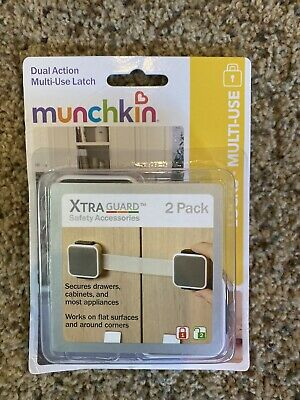 Munchkin Xtra guard Dual Action Multi Use Latches, 2 Pack, 1of3