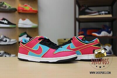 2009 Nike SB Dunk Low Ms. Pacman size 10 chlorine blue | TRUSTED SELLER!