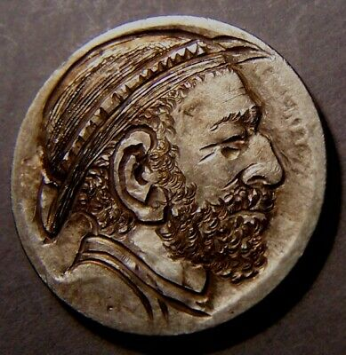 """HAND CARVED CLASSY HOBO COIN,OOAK,   """" ...BOXCAR BILLOXI BOB !..Man in HAT.."""""""